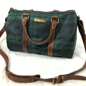 Polo Ralph Lauren Scotch Plaid Structure Purse Bag